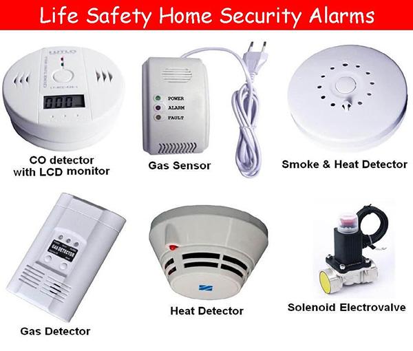 انواع دتکتورها برای امن کردن منازل